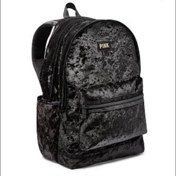 7b72ebe0b8d NWT Pink VS Velvet Campus Backpack